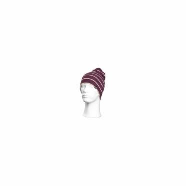 Prir Beanie - Purple White