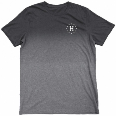 Huf 12 Galaxies Dipped Heather Tee - Charcoal