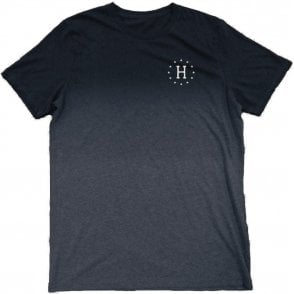 Huf 12 Galaxies Dipped Heather Tee - Navy