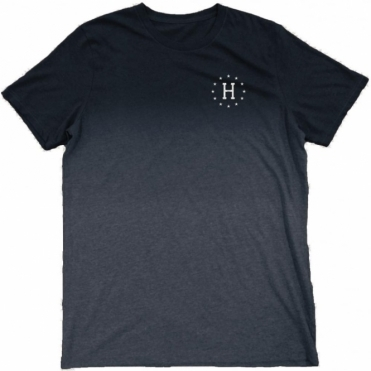 12 Galaxies Dipped Heather Tee - Navy