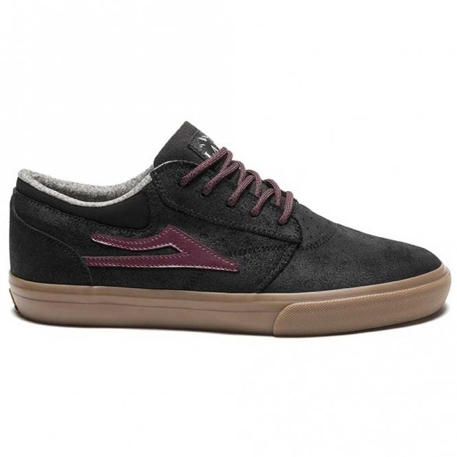 Lakai Griffin WT Skate Shoe - Black/Gum