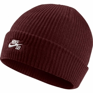 Nike Fisherman Beanie - Dark Red