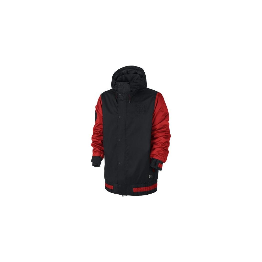Nike Hazed Veste Noire Rouge