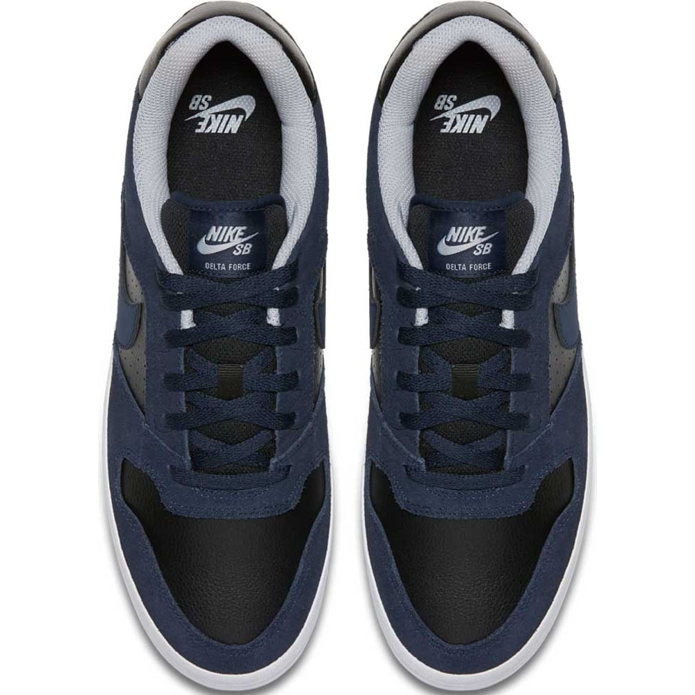 detailed look 91278 ebbbc Nike SB Delta Force Vulc Shoes - Navy   Black