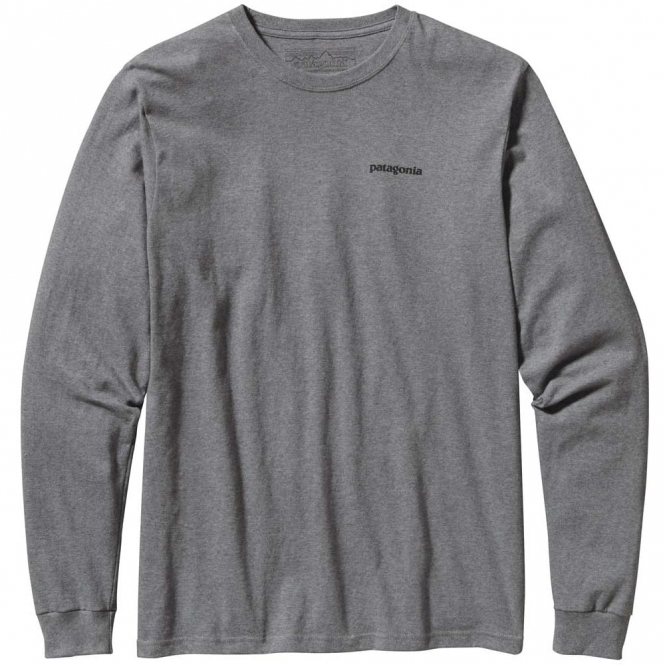 Patagonia Long-Sleeved P-6 Logo Cotton T-Shirt
