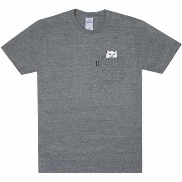 Rip N Dip Lord Nermal Pocket Tee - Heather Grey