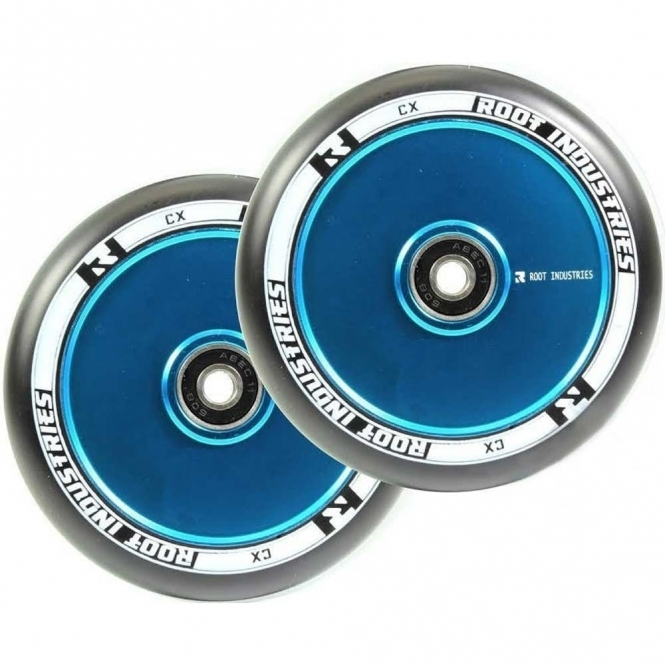 Root Industries Air Wheels - 110mm Black / Blue (PAIR)
