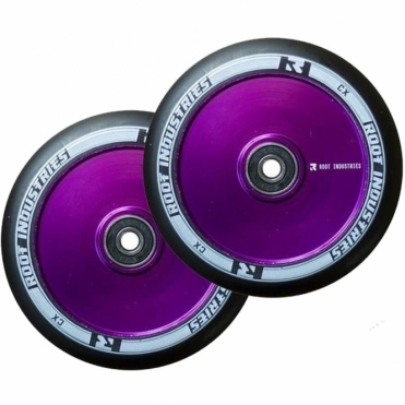Root Industries Air Wheels - 110mm Black / Purple (PAIR)