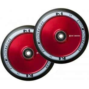 Air Wheels - 110mm Black / Red (PAIR)