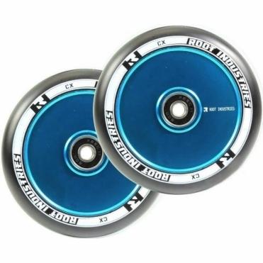 Air Wheels - 120mm Black / Blue (PAIR)