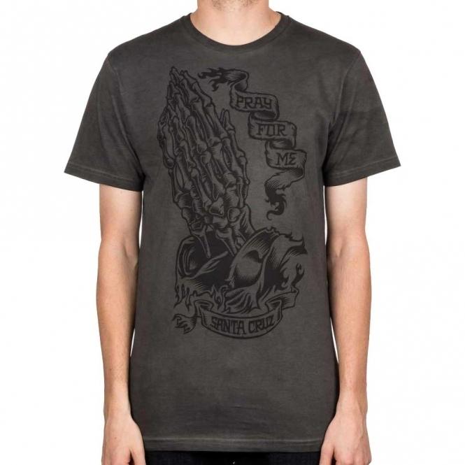Santa Cruz Pray Skeleton T Shirt