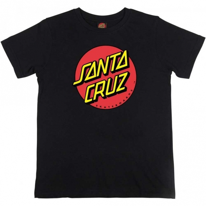 Santa Cruz Youth T Shirt Classic Dot
