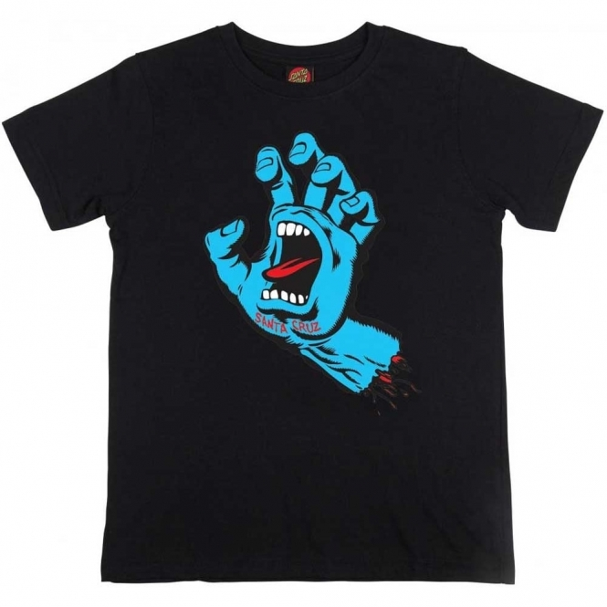 Santa Cruz Youth T Shirt Screaming Hand