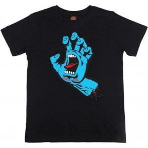Santa Cruz Youth T Shirt Screaming Hand