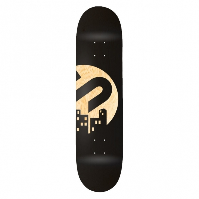 The Snowboard Shop Team Skateboard Deck - Black