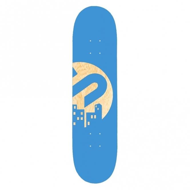 The Snowboard Shop Team Skateboard Deck - Blue