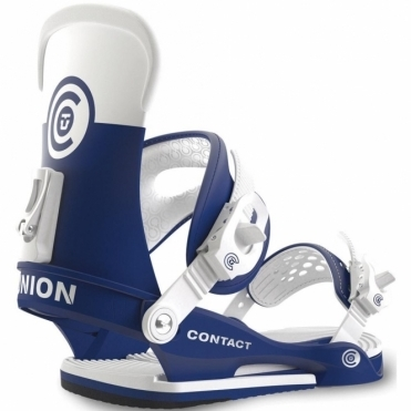 Contact Snowboard Bindings - Blue/White