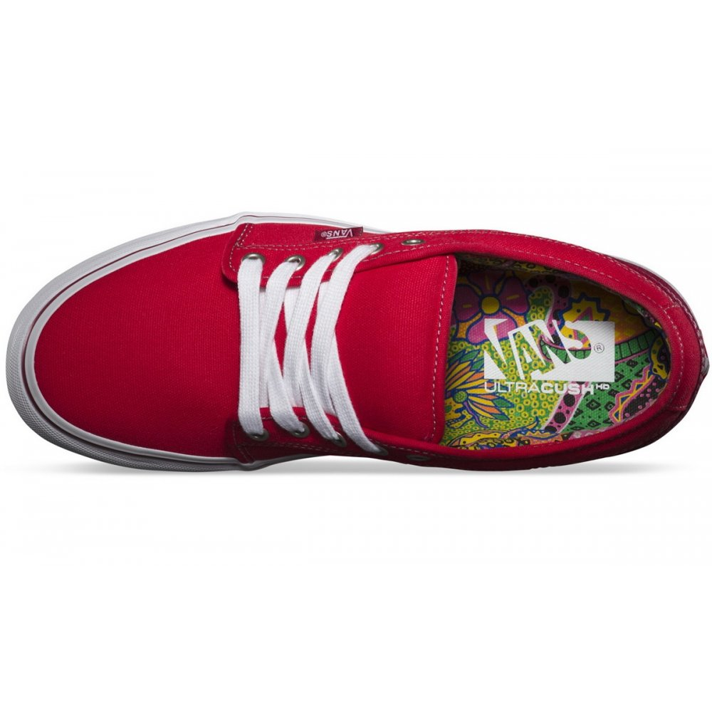 ca8ba484cdcc Vans Chukka Low Skate Shoes - Bright red - Vans from The Snowboard ...