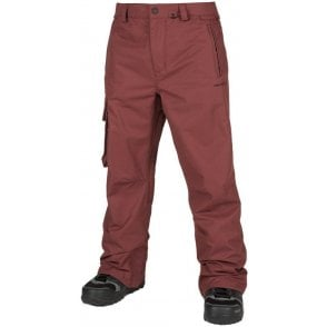 Volcom Men's Ventral Snowboard Pants - Burnt Red