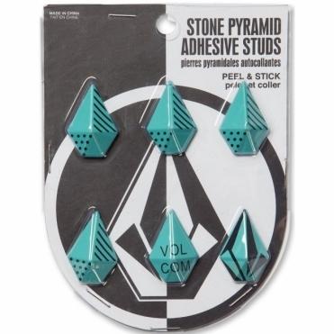 Stone Pyramid Studs - Glacier Blue