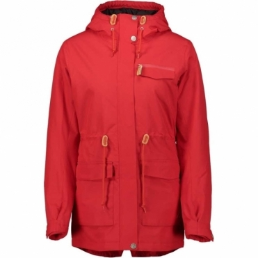 WearColour Women's State Parka - Red